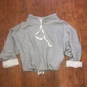 Forever 21 Grey Drawstring Pullover